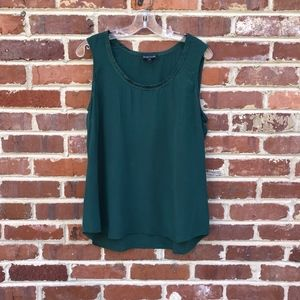 Eileen Fisher Green Silk Tank Top Shell Large